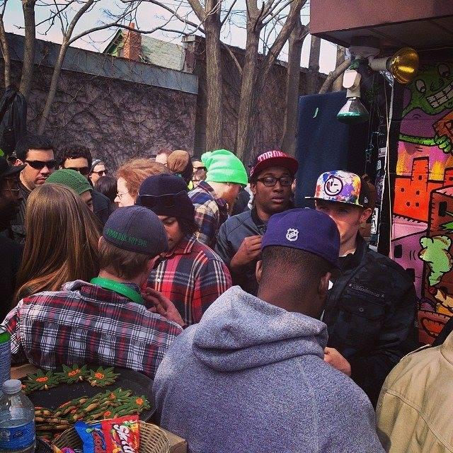 Hotbox Cafe 420 celebrations.