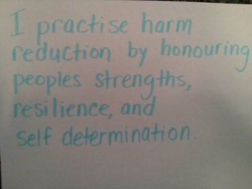 Harm Reduction Resilience