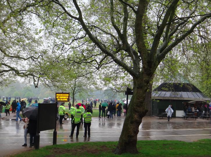 420 Celebrations in Hyde Park, London, UK.